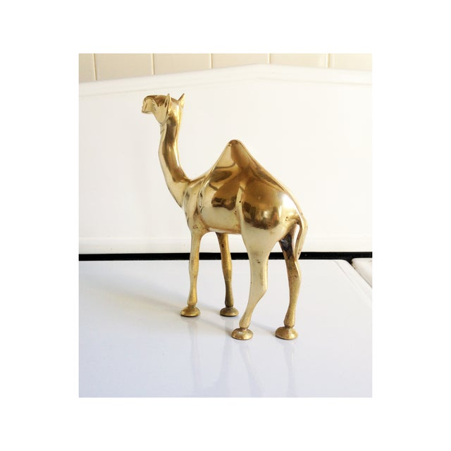 Vintage Large Brass Camel Statue - Image 3 of 5