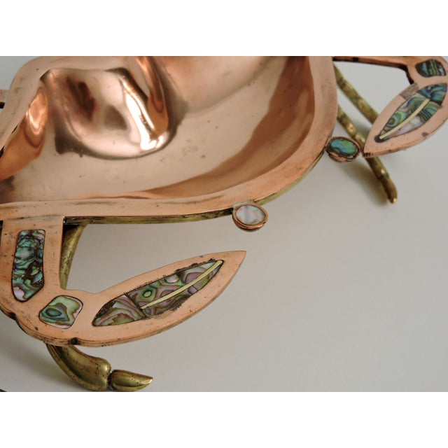 Mid-Century Mexican Copper Abalone Crab Tray - Image 3 of 6