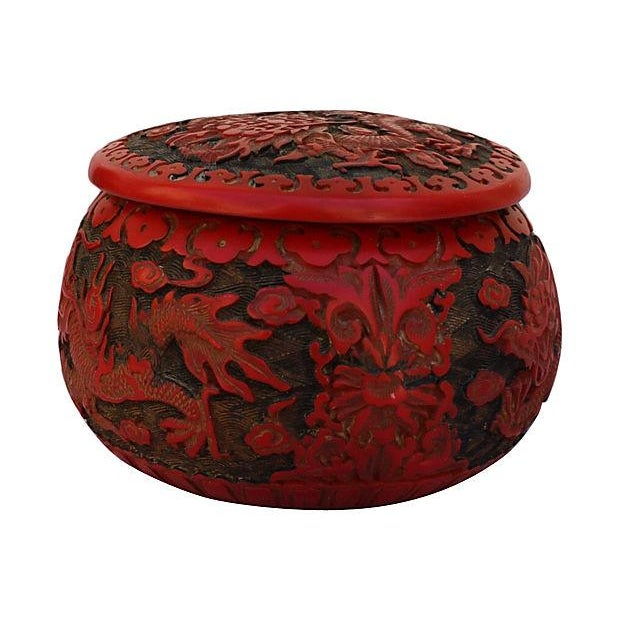 Image of Chinese Dragon Cinnabar Lacquer Box
