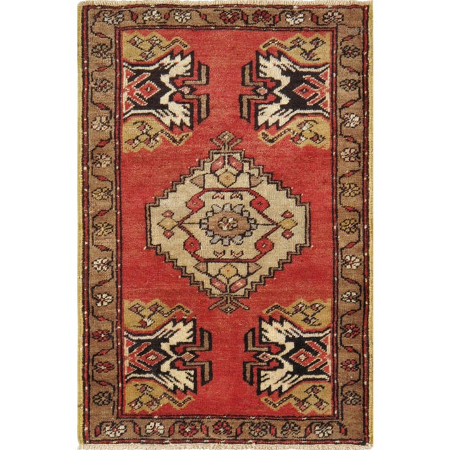 Vintage Turkish Oushak Rug - 1′8″ × 2′7″ - Image 1 of 2