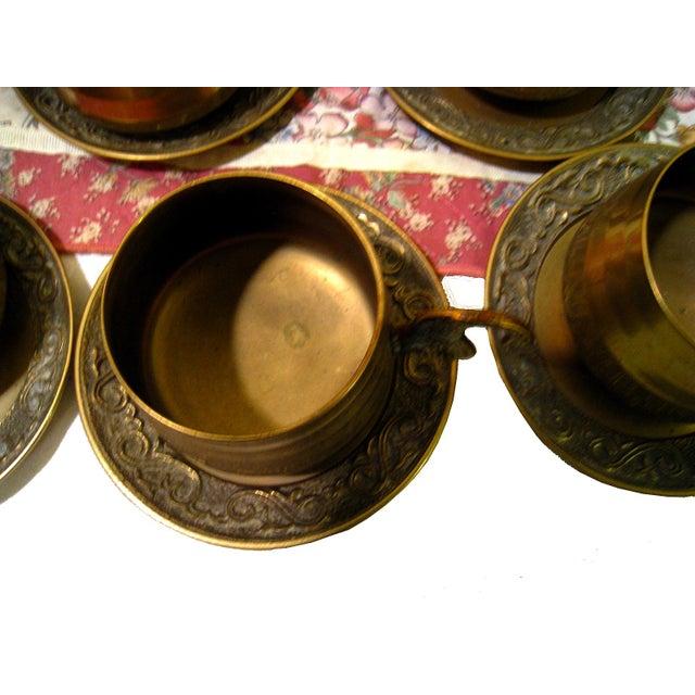Vintage Hammered Brass Goldfish Tea Set - Image 8 of 10