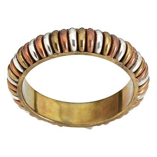 Tri-Color Brass Bangle