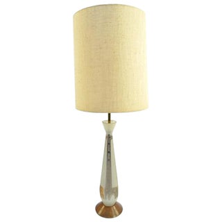 Frosted Glass Gold Giraffe Lamp with Wooden Base