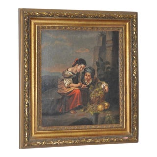19th Century Italian School Oil Painting on Canvas