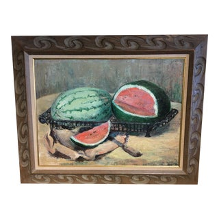 Mid-Century Modern Original Oil Painting