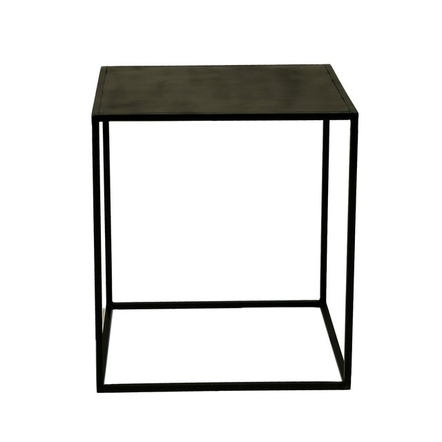 Image of Cube Powder Coated Metal Side Table