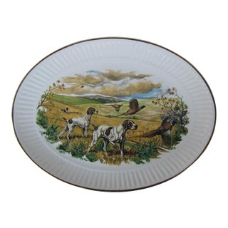 Vintage Hunting Dog Serving Platter