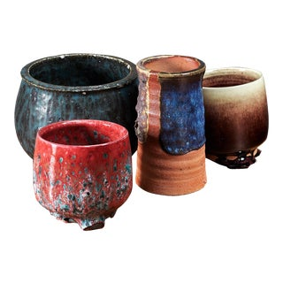 Rolf Palm set of four ceramic vases, Sweden, 1970s