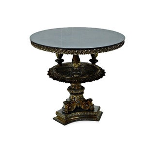 Gold Pewter Metal Cake Stand