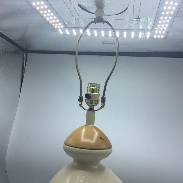 Ceramic & Wood Triangular Lamp - Image 4 of 7