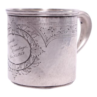 Antique Sterling Child's Christmas Cup Dated Dec. 25, 1919