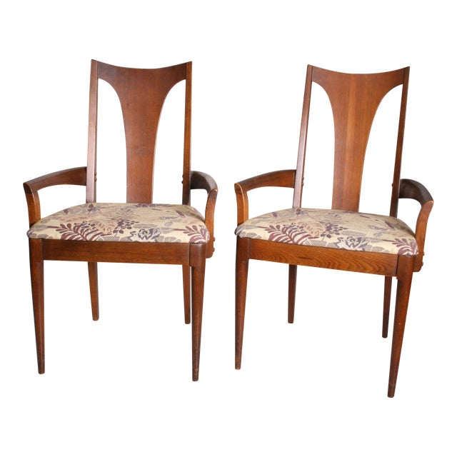 Mid Century Modern Broyhill Brasilia Dining Chairs - A Pair - Image 1 of 11