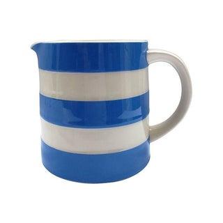 Vintage English Cornishware Blue & White Milk Jug