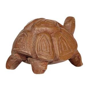 Hand-Carved Wood Turtle Figurine