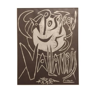1955 Pablo Picasso Exposition Vallauris Poster