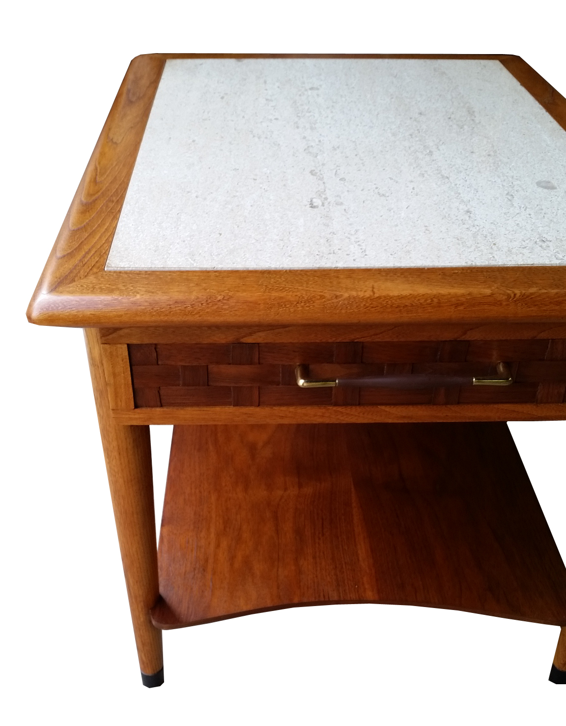 Lane Perception Travertine Top End Tables   Pair   Image 3 Of 4