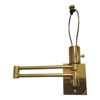 George Hansen for Metalarte Double Swing Arm Brass Wall Lamp