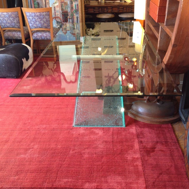 Image of Crackle Glass Base Dining Table
