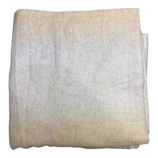 Herringbone Design Cashmere Blend Blanket