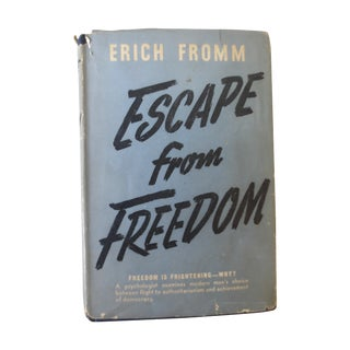Escape From Freedom Book by Erich Fromm, 1941