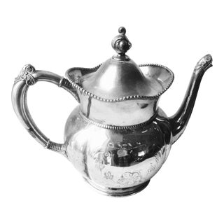 Victorian Gem Silver Co. Ornate Teapot