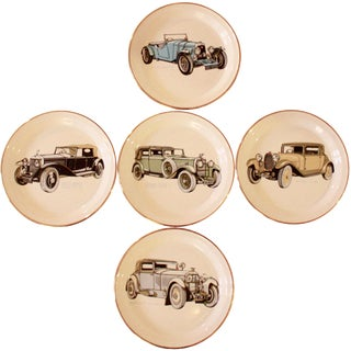 Collectible Barratts of Staffordshire Vintage Car Plates - Set of 5