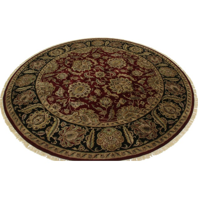 Round Persian Style Hand-Knotted Wool Rug - 12' x 12' - Image 2 of 2