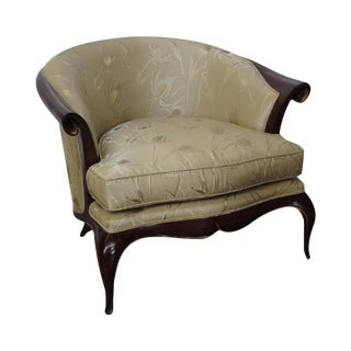Modern Regency Mahogany Barrel Back Chair