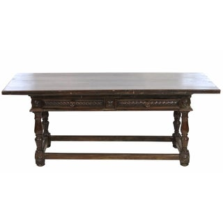 Antique 18th C. Continental Carved Library Table