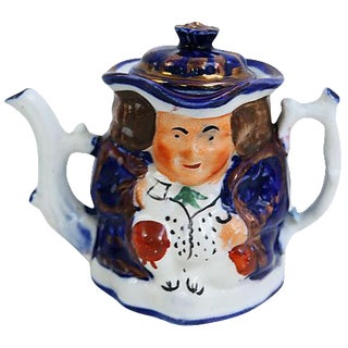 Antique Miniature Toby Teapot