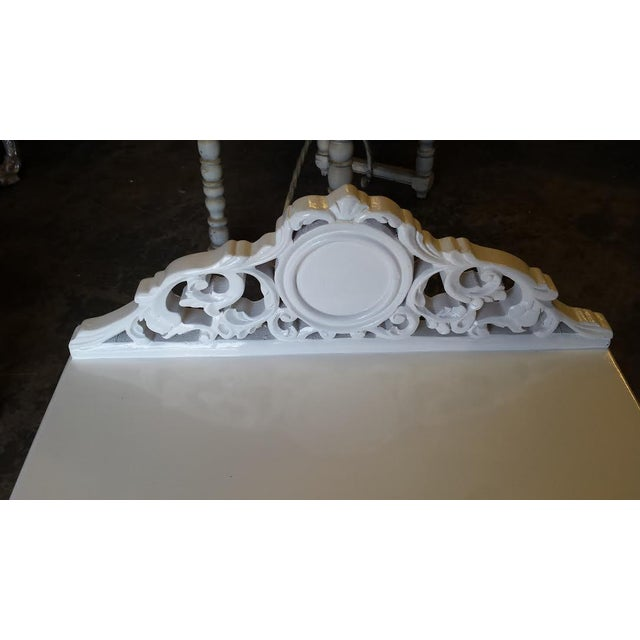 French Carved White Gloss Night Stands - A Pair - Image 4 of 6