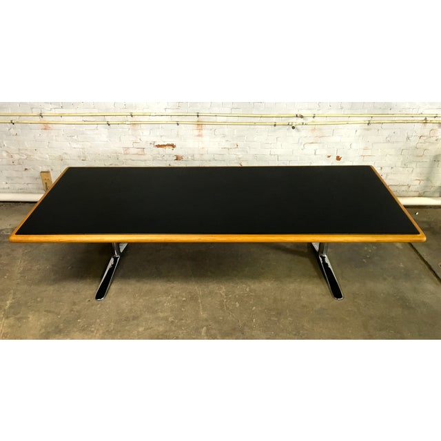 Knoll warren platner desk conference table chairish for Table warren platner