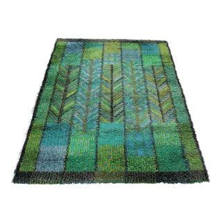 "Marianne Richter Swedish Rya Carpet - 5'4"" x 7'7"""