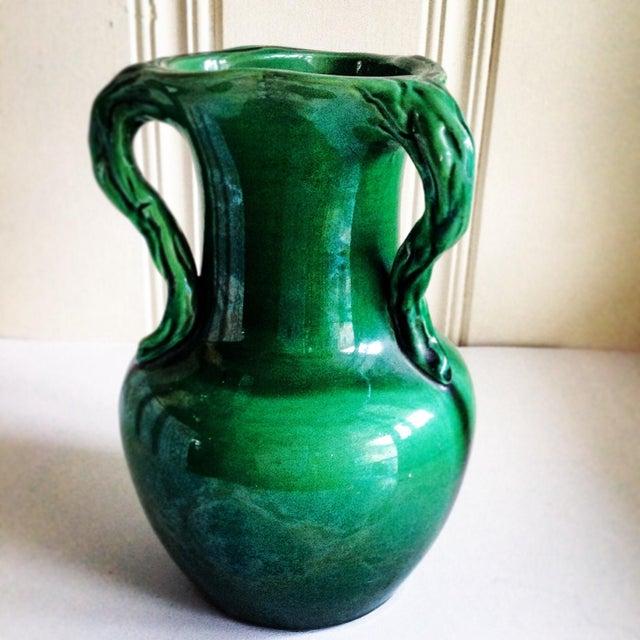 Handmade Mid-Century Emerald Green Vase - Image 2 of 7