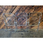 Image of Piretti for Castelli 1970s Lucite and Chrome Folding Chairs - Set of 3