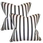 Hamptons Stripe Accent Pillows - A Pair