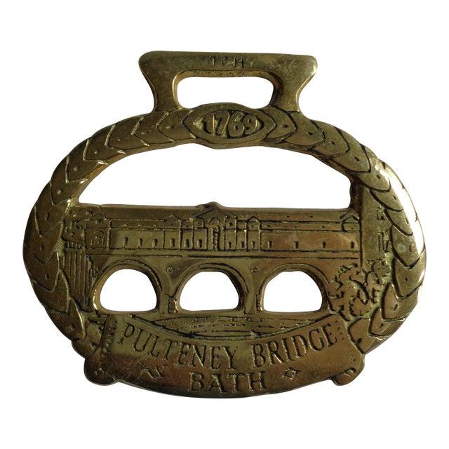 Antique english horse brass bridle decoration bath bridge