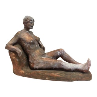 Terra Cotta Lady Sculpture