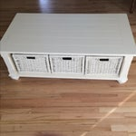 Image of Antique Traditional White Coffee Table