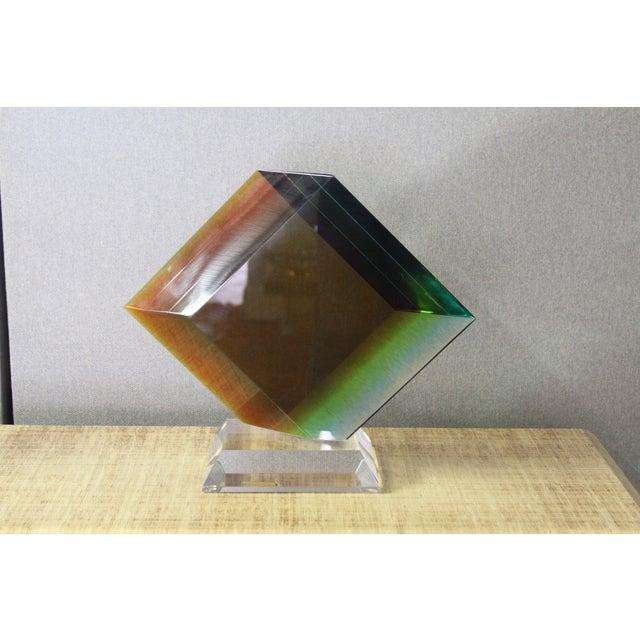 Haziza Acrylic Colorful Geometric Sculpture - Image 3 of 9