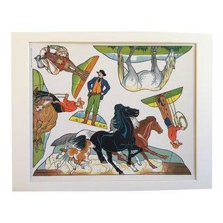 Vintage Cowboy & Indian Cut Outs - Uncut Sheet #3