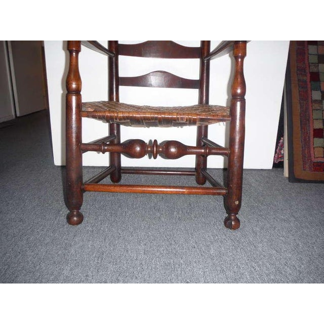 Rare 18th c. Delaware River Valley Ladder Back Side Chair - Image 8 of 8