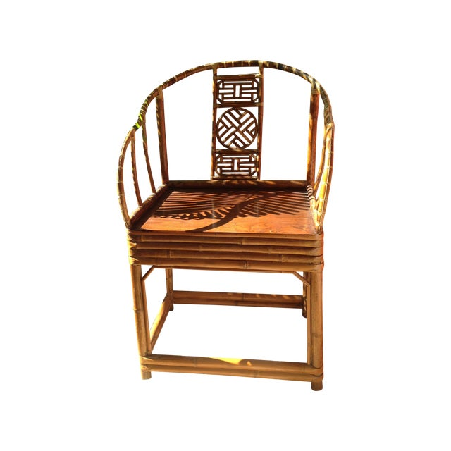 Antique Chinese Wooden Chair - Image 1 of 7