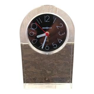 Howard Miller Lucite Desk Clock