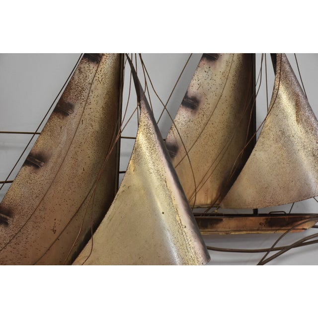 Curtis Jere Sailboat Wall Hanging Sculpture - Image 6 of 11