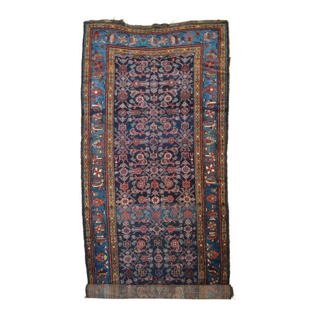 """Antique Persian Wide Runner- 3'10"""" X 9'7"""" - Image 1 of 11"""