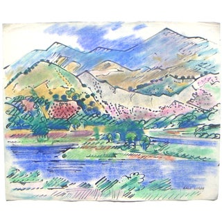 Erle Loran California Modernist Gold Country Lake