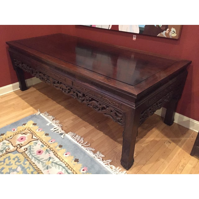 Chinese Rosewood Table - Image 2 of 8