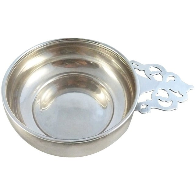 Image of Antique Silverplate Porringer