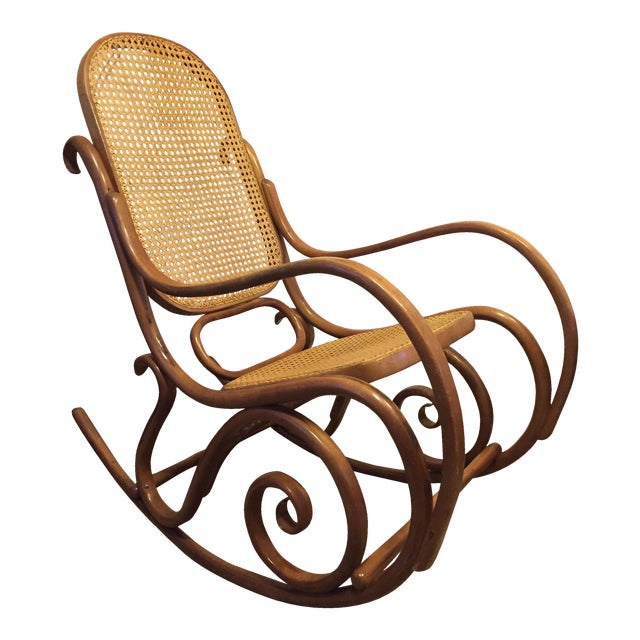 vintage mid century thonet style bentwood rocking chair chairish. Black Bedroom Furniture Sets. Home Design Ideas